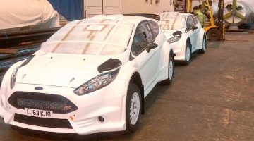 Ford Fiesta Rally car vehicle shipping