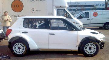 Skoda car ready for vehicle shipping
