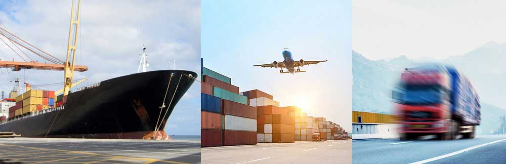 Logistics by sea, air and road